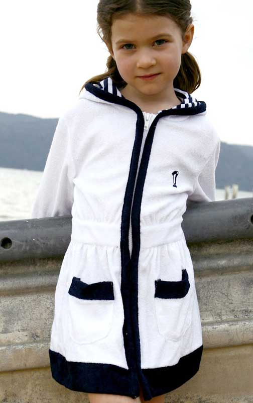Kids Terry Zip Robe
