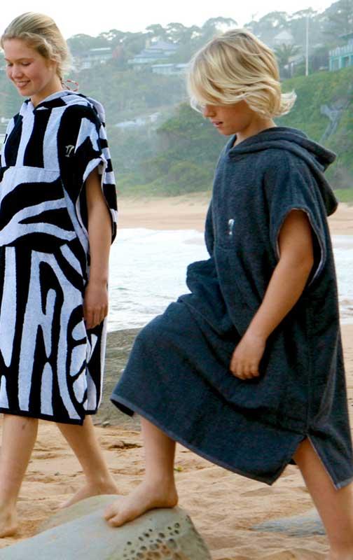 Kids Hooded Towel Poncho