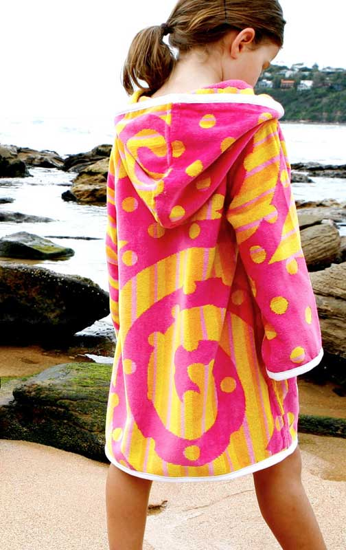 Hooded Beach Towel Robe