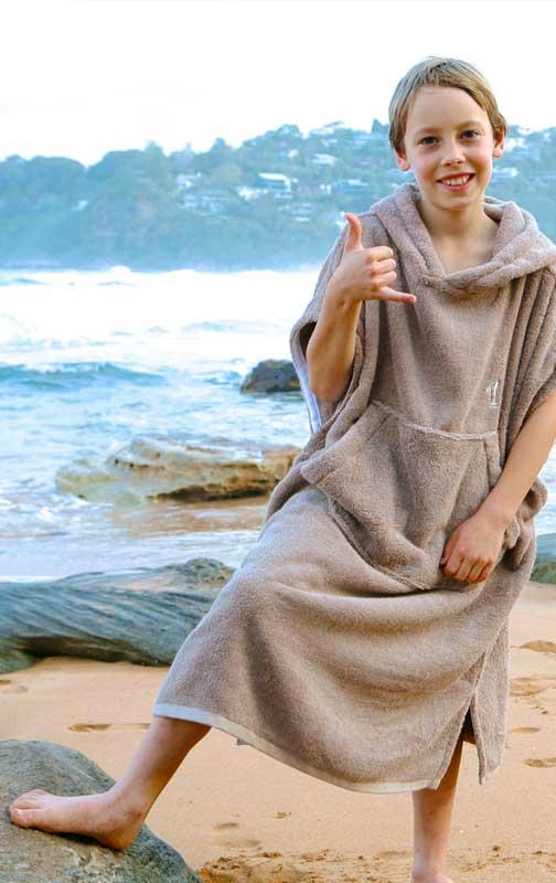 Hooded Towel Poncho