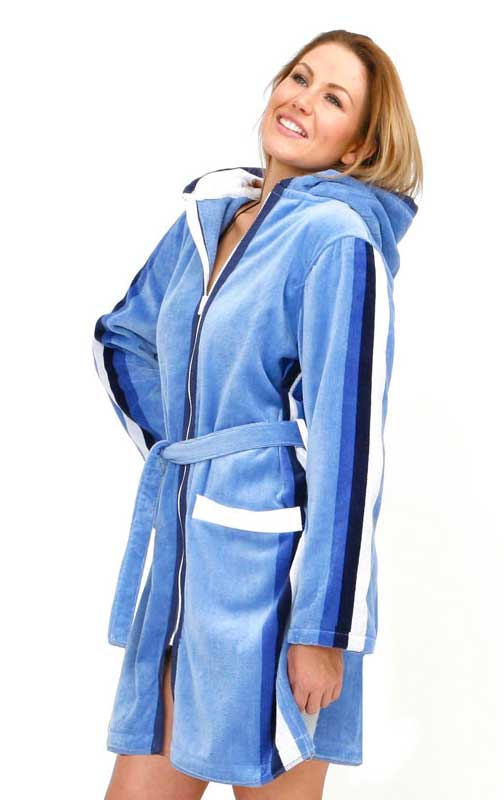 Blue Hooded Robe